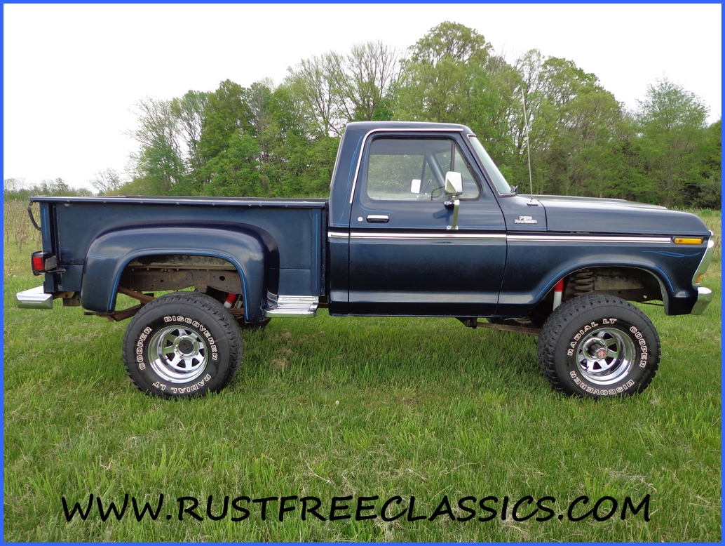 1978 78 F150 Ford 4x4 Short Bed Step Side Ranger Blue 1971 F100 For Sale